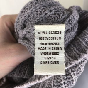 Vintage Havana Sweaters - Vintage Havana denim blue chunky knit sweater